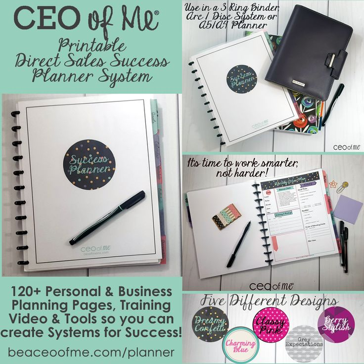 CEO of Me Success Planner for Direct Sales and Party Plan Consultants