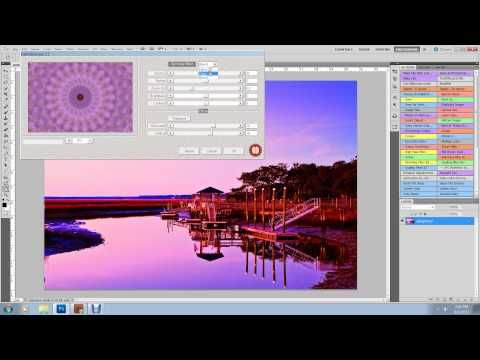 Make Kaleidoscopes in Photoshop (a Bill Barber tutorial) with a link to get a free plug-in