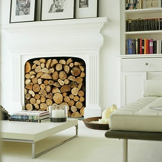 fireplace.So cool! I would rather use it though..