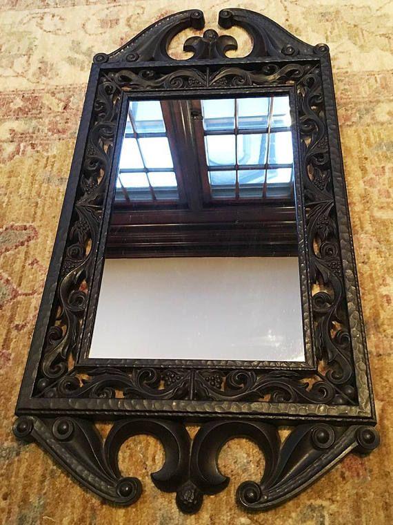 Vintage Mirror Vintage Wall Mirror For Wall Wood Mirror Etsy Vintage Mirror Wall Vintage Mirror Mirror