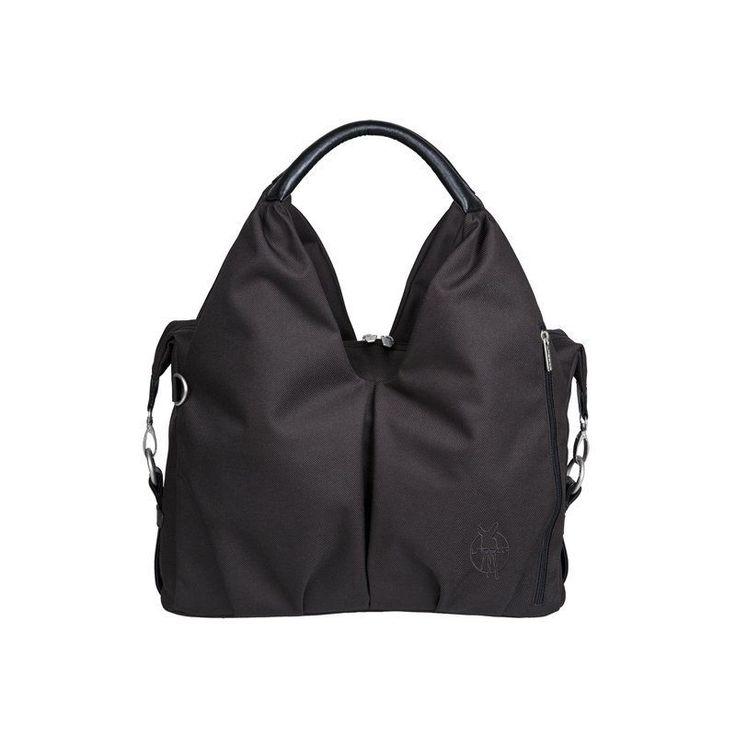 NWT Lassig GREEN LABEL NECKLINE Ecological/Sustainable Shoulder Diaper Bag-BLACK