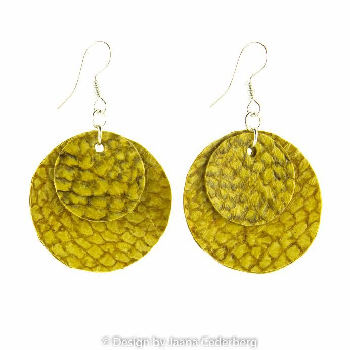 Fish skin earrings - Design by Jaana Cederberg