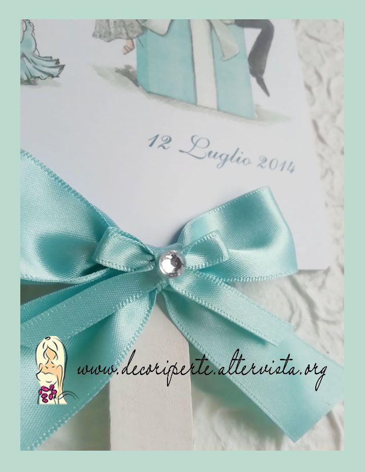 "Tiffany Wedding Fan Ventagli matrimonio ""Tiffany"""