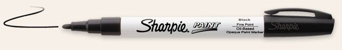 Sharpie Paint Pens | Oil-Based Paint Marker--use black fine on white plates/cups to decorate!