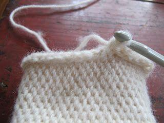 A crochet stitch that looks like knit - Shepherds knitting