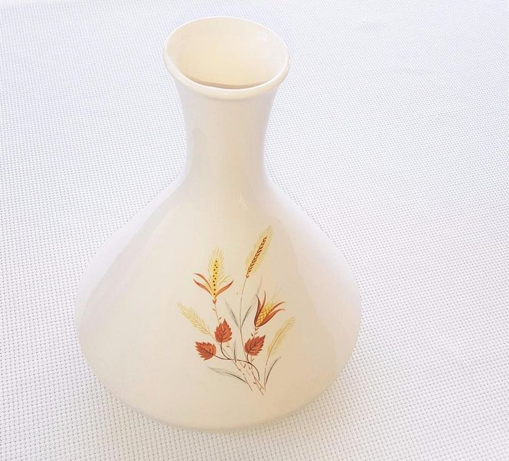 Vtg Taylor Smith & Taylor Ever Yours Autumn Harvest Coffee Carafe Vase Wheat 60s #TaylorSmith #1960s