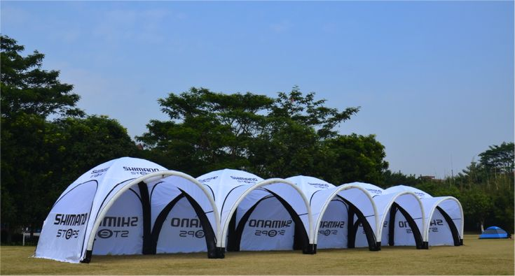 Connecting a line of inflatable tents is a great way to make a large area covered in a short period of time! Call us today for your quote on multiple items :) #inflatable #tents #outdoor #eventprofs #eventplanner #eventdesign #festival #summer