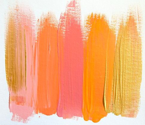 citrus, pink, gold--palette for girls' room