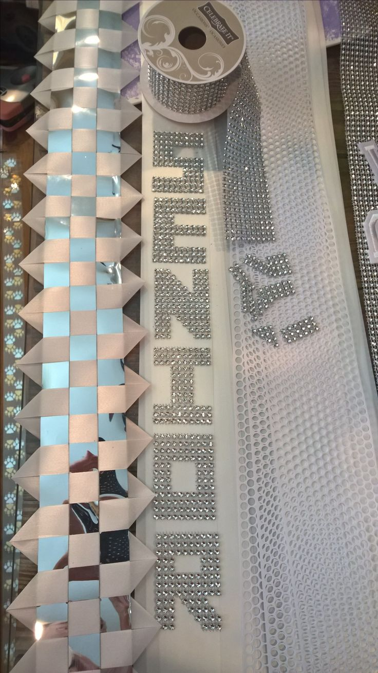 Homecoming mum cut your own letters from bling ribbon