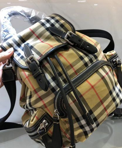Replica Burberry The Small Crossbody Rucksack in Vintage Check 40731111  Apricot  5758 3 1042a81c72bb6