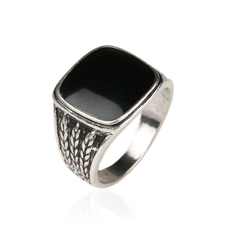 Men Biker Silver Jewelry Fashion Wedding Rings For Men