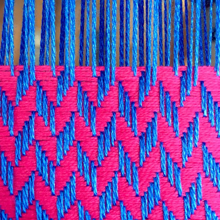 Bright Pink organic cotton and Royal Blue bamboo chunky herringbone weave. #sustainablefashion #sustainable #sustainableliving #sustainabletextiles #sustainabledesign #eco #ecofriendly #ecotextiles #plantbased #vegan #crueltyfree #organic #weaver #woven #woventextiles #textile #textiledesign #textiledesigner #madeinhampshire #madewithlove #footpowered #organiccotton #organiccottonyarn #bamboo #bambooyarn