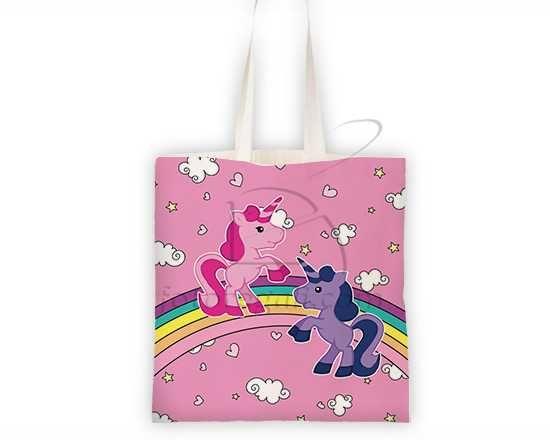 Borsa Shopping Coppia di unicorni
