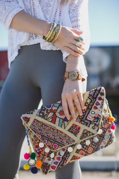 Adorned Boho Kantha Bag $89.99