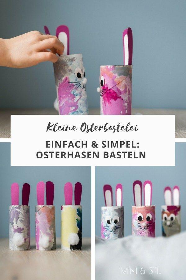 Kleine Osterbastelei: Osterhasen basteln mit Kindern – Alina
