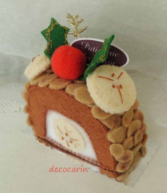 Felt Cake Christmas Cake Felt Food Felt Home Kitchen by decocarin