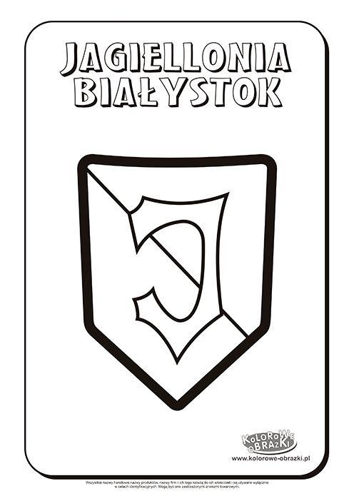 Jagiellonia Białystok logo kolorowanka | Kolorowanki dla dzieci