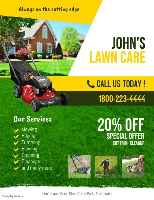 Lawn Service Flyer Template Lawn Care Service Flyer Template