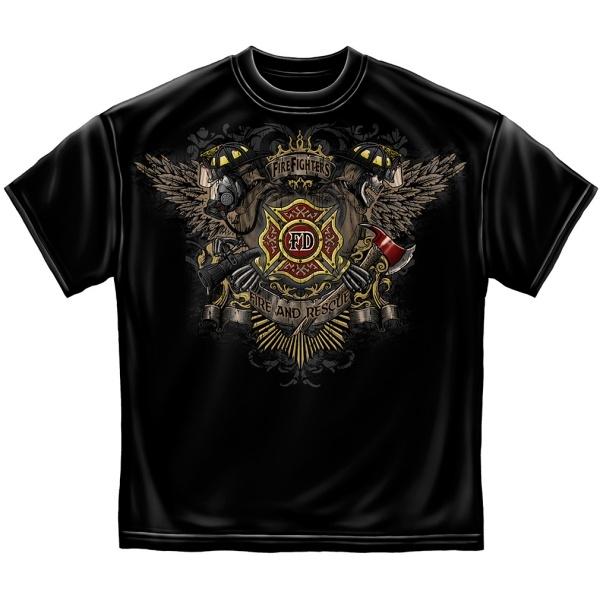 FD Winged Firefighter T-shirt | Firefighter Apparel | Firefighter.com