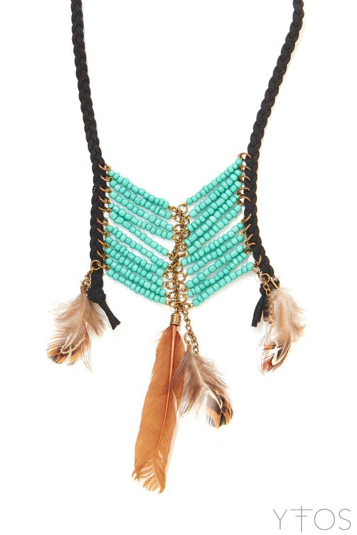 'Magic Arrow' Turquoise Blue Necklace