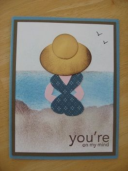 beach babePunch Art Cards, Cards Thinking, Heart Punch, Stamps Punch, Stampin Up, Butterflies Punch, Beach Girls, Babes Stampin, Beach Babes