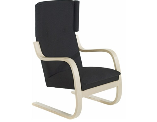 armchair 401  Design Alvar Aalto, 1933  Bent birch plywood, upholstery  Made in Finland by Artek