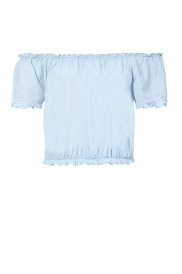 Denim Bardot Cropped Top from Mr Price R119,99