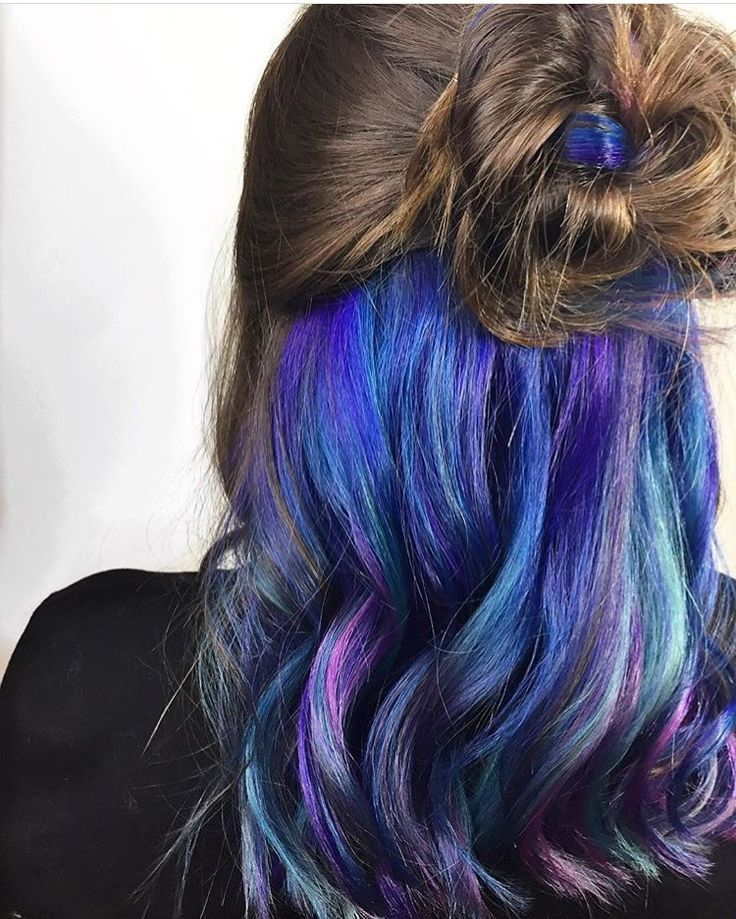Underlights | Galaxy Hair | Pravana Vivids | Hair by @erinm_hair | juju hair lounge Vancouver, BC, Canada @jujuhairlounge
