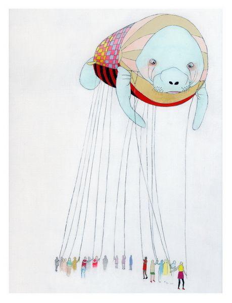 Float print by Jennifer Davis.