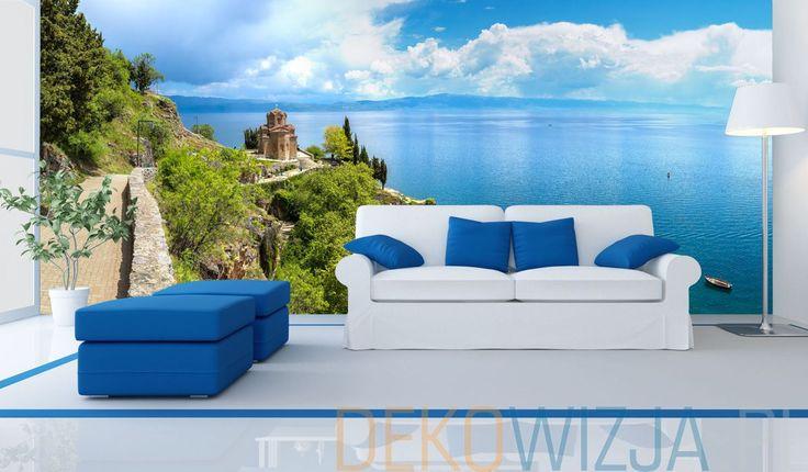 Fototapeta do salonu z piękną panoramą nad jeziorem