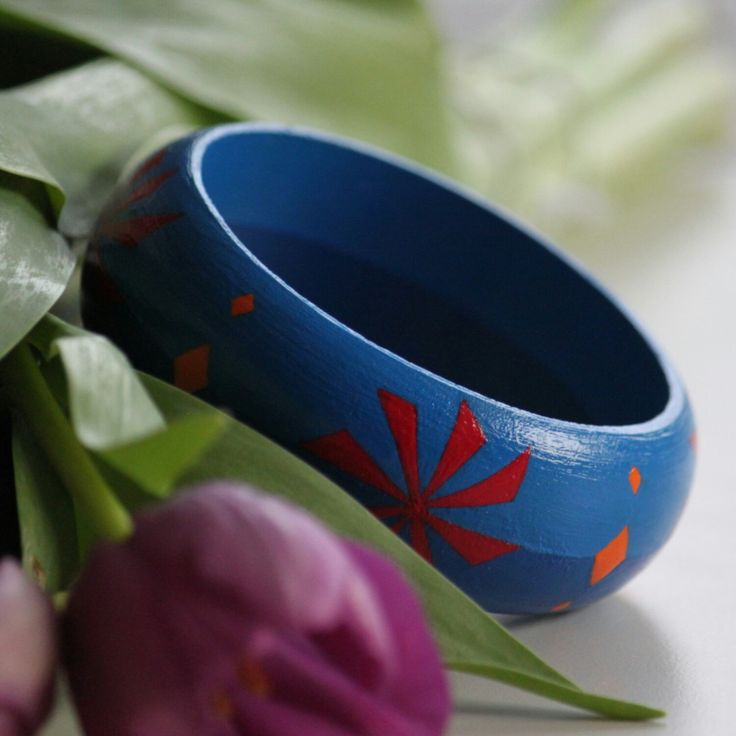 NEW handpainted bracelet in my shop. Check it!