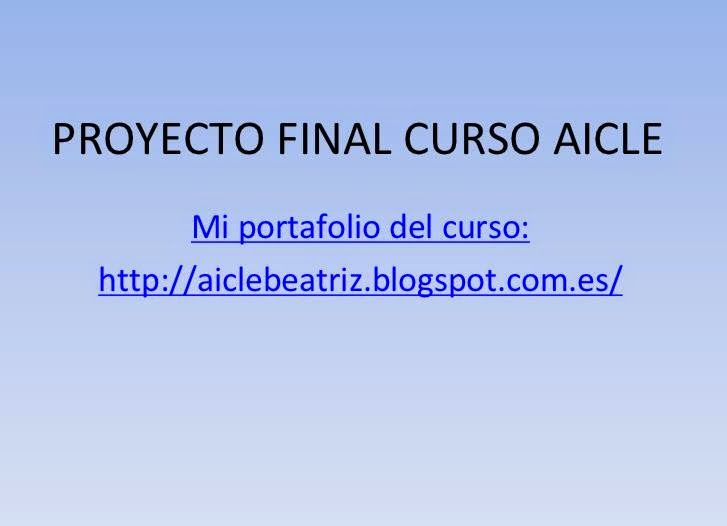 PROYECTO FINAL CURSO AICLE por Beatriz Sabariego