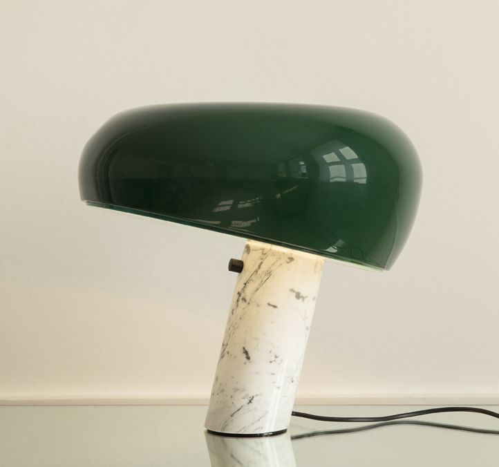 Castiglioni's snoopy lamp with green shade / special edition for theapartment.dk