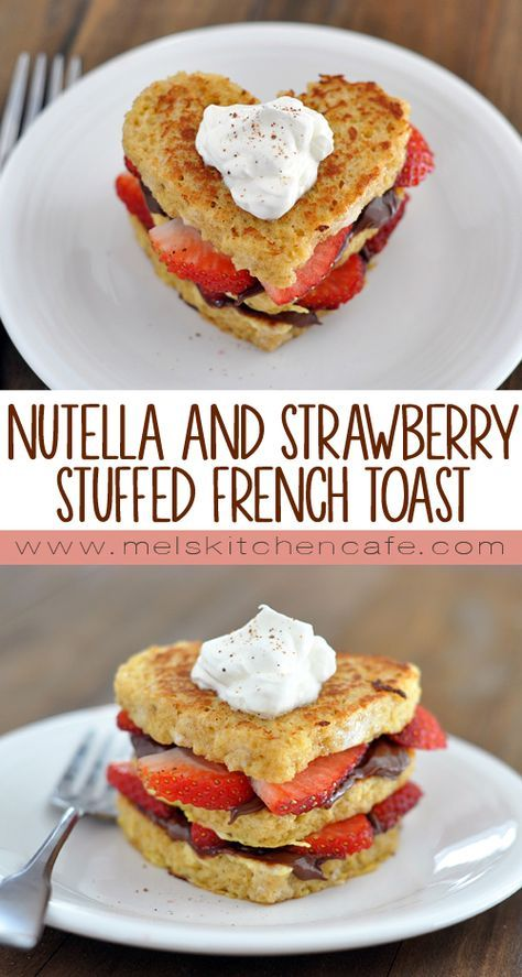 More than a fun or fancy Valentine's dinner, I love a delicious Valentine's breakfast. And this Nutella and strawberry stuffed french toast will not disappoint on Valentine's Day morning.