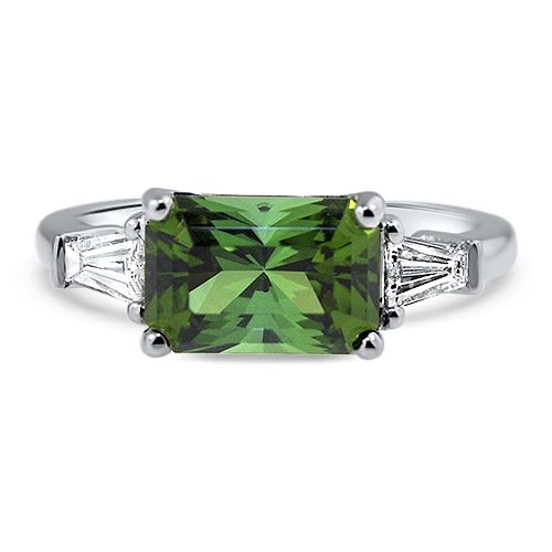 9af37d6837771 CR3477 Maine Green Tourmaline and Diamond Ring 14KW | Maine ...