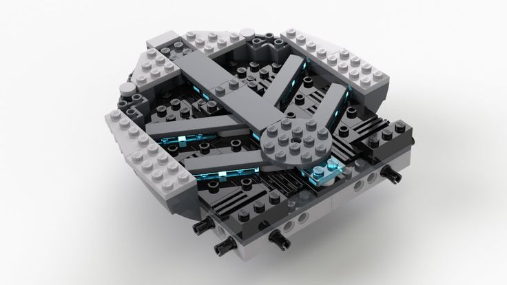 Lego Helicarrier (Kit 76042) Sub Assembly 01 Build Video