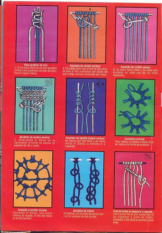 Ideas!!! Conoce los nudos básicos en macramé - Artesanía Llangka