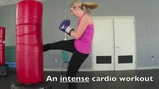 heavy bag workout for women - YouTube