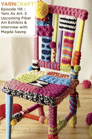 """My latest podcast showcases fiber art around the world, from the Lions of the Cultural Olympiad to """"Craft Spoken Here"""" in Philadelphia. Plus an interview with Magda Sayeg, prolific yarn bomber and artist."""