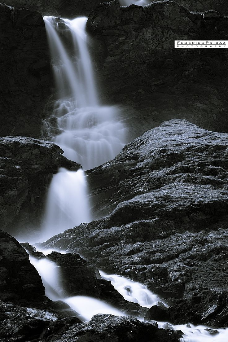 a waterfall in the grossglockner park near the pasterze glacier