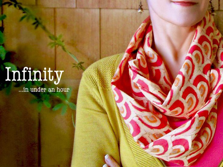 #Voile Infinity #Scarf   Sew4Home http://www.lovelysilks.com