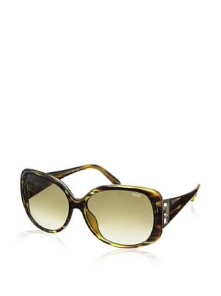 71% OFF Fendi Women's FS5290 Sunglasses, Striped Havana