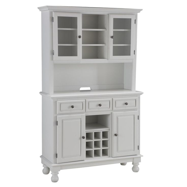 Premium Buffet With Wood Top And Hutch