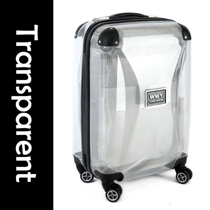 guaranteed100 20 travel transparent plastic suitcase. Black Bedroom Furniture Sets. Home Design Ideas