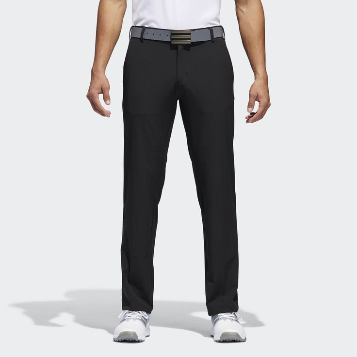 Bomb shots down the fairway in these men's golf pants. Made of a blended fabric that allows you to move with ease, they include grippy elastic inside the waistband to help keep your shirt tucked in as you strike every ball with confidence. Pockets in front and back keep essentials close at hand.