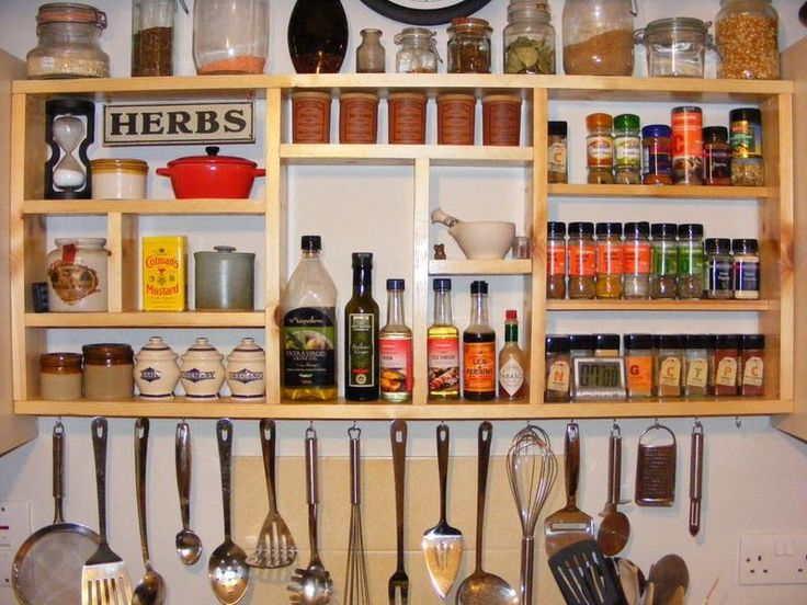 How do you hang a homemade wall spice rack?