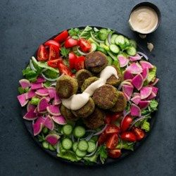 Falafel Salad with Lemon-Tahini Dressing - EatingWell.com