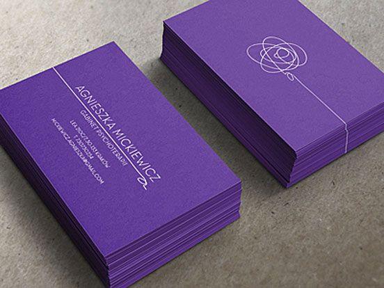 Agnieszka Mickiewicz Psychologist   Business Cards   The Design Inspiration
