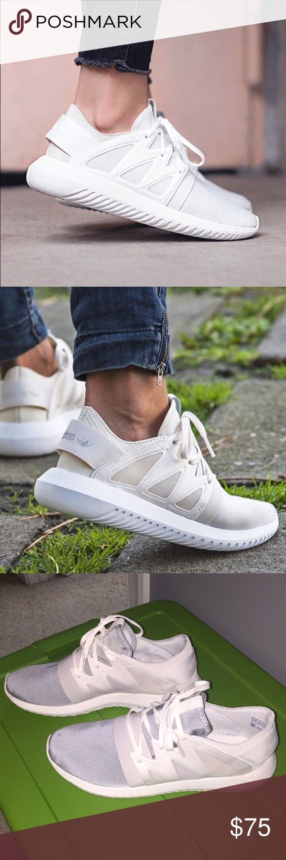 Adidas Tubular Viral Adidas Tubular Viral -chalk white. Only worn a few times, but in good condition. Adidas Shoes Athletic Shoes