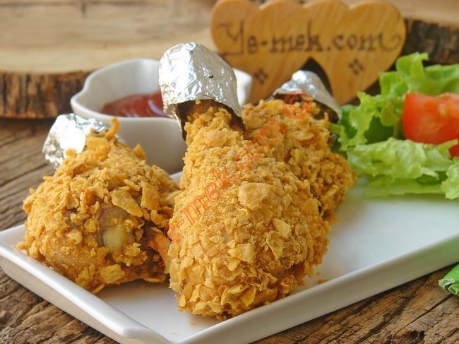 Fırında Mısır Gevrekli Tavuk Baget Resimli Tarifi - Yemek Tarifleri